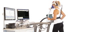 Woman during treadmill test